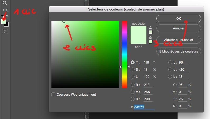 Le fait de cliquer 3 fois pour choisir une couleur fait perdre énormément de temps à la longue !